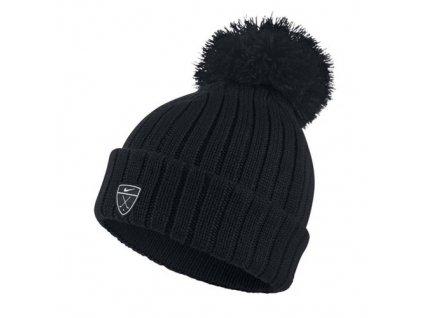 NIKE dámská zimní čepice Beanie černo-bílá