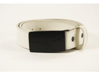 MIZUNO opasek Leather Belt bílý