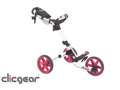 CLICGEAR golfový vozík 3.5+ bílo-růžový  + Golfová pravidla