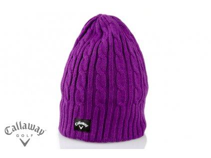 CALLAWAY zimní čepice Cable knit fialová