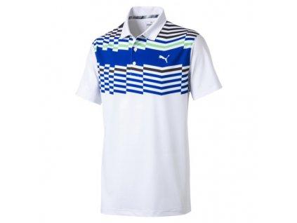 PUMA pánské tričko Road Map Polo bílé