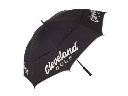 """CLEVELAND dámský deštník 60"""" Double Canopy černo-červený"""