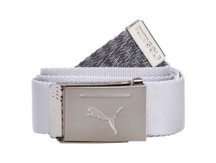 PUMA Reversible Web Belt pánský opasek bílo-šedý