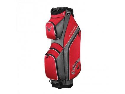 CALLAWAY X Series cart bag na vozík červeno-stříbrno-bílý