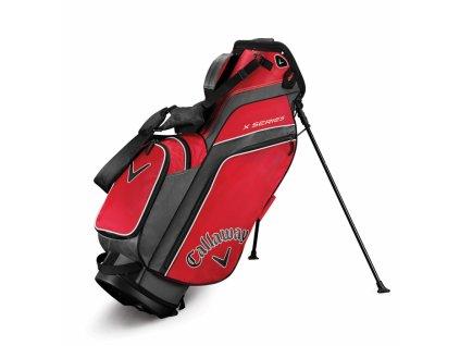 CALLAWAY X Series standbag červeno-stříbrno-bílý