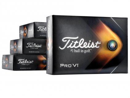 Titleist Pro V1 golfové míčky bílé 36ks + 12 ks zdarma  + Potisk ZDARMA