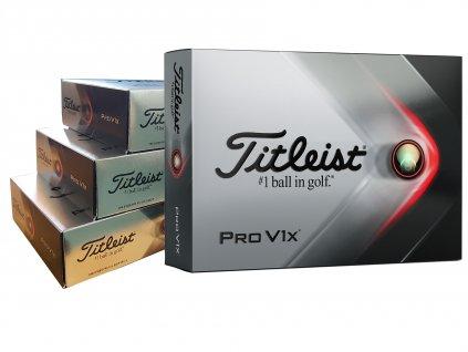 Titleist Pro V1X golfové míčky bílé 36ks + 12 ks zdarma  + Potisk ZDARMA
