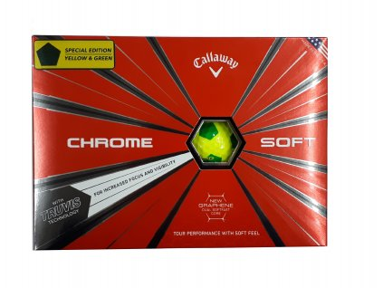 CALLAWAY Chrome Soft 18 Truvis golfové míčky žluto-zelené (12 ks) Speciální edice