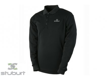 9f7ad8c17d5 STUBURT tričko Essentials LS Polo Shirt černé (Velikost oblečení S)