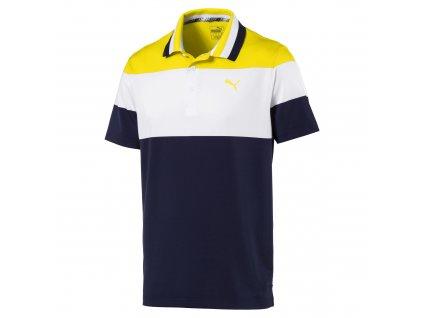 PUMA pánské tričko Nineties Irish modro-bílo-žluté