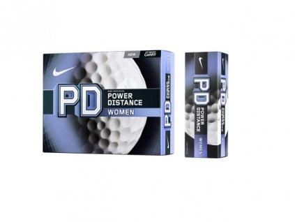 NIKE PD8 Power Distance dámské golfové míčky (3 ks)