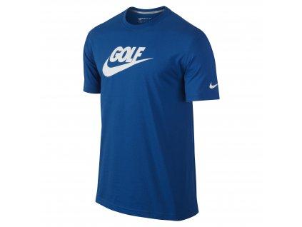 NIKE triko Sport S/S Verbiage Tee modré (Velikost oblečení XXL)