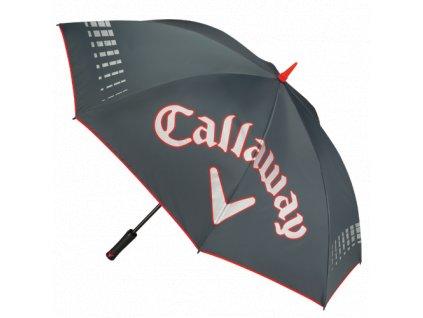 """CALLAWAY deštník UV64"""" Single Canopy šedo-červený"""