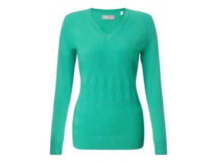 CALLAWAY dámský svetr Argyle zelený (Velikost oblečení M)
