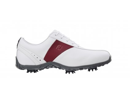 FOOTJOY dámské golfové boty Lopro bílo-vínové (Velikost bot 40.5)