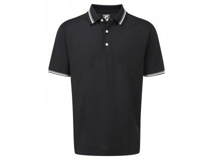 FOOTJOY pánské triko Pique černé (Velikost oblečení L)