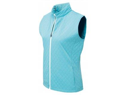 FOOTJOY dámská vesta Quilted modro-bílá (Velikost oblečení L)