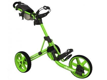 CLICGEAR 3.5+ golfový vozík zelený  + Velké balení týček 20 ks