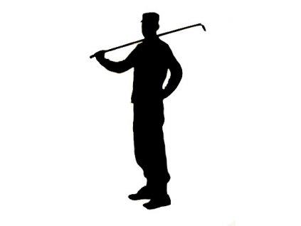 Samolepka na auto Golfista