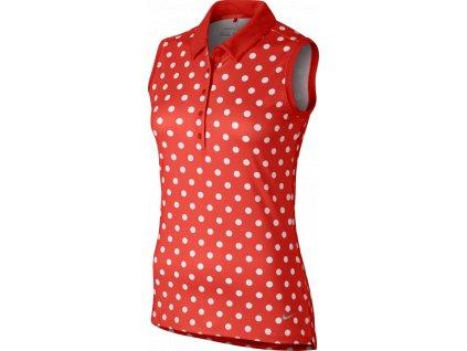 NIKE dámské tílko Precision S/L Print Polo červené (Velikost oblečení S)