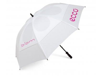 """ECCO deštník 62"""" Double Canopy bílo-růžový  + Malé balení týček 10 ks"""