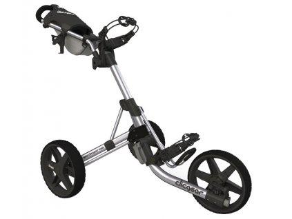 CLICGEAR 3.5+ golfový vozík stříbrný  + Ocelová vypichovátka 2 ks