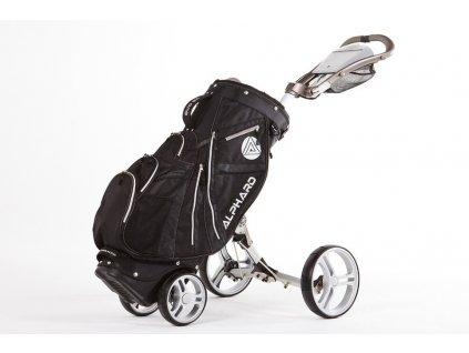 ALPHARD Duo DX vozík stříbrný s černým bagem