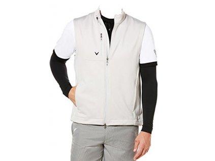 CALLAWAY pánská vesta Full Zip Stretch Fleece Mock béžová (Velikost oblečení L)