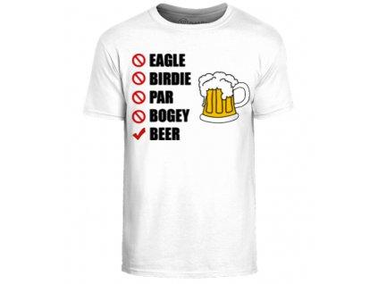 Vtipné triko s golfovým motivem Pivo vel. (Velikost oblečení XXL)