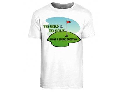 Vtipné triko s golfovým motivem Otázka vel. (Velikost oblečení XL)
