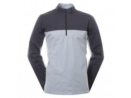 NIKE Shield Victory Half Zip pánská golfová bunda šedá zepředu