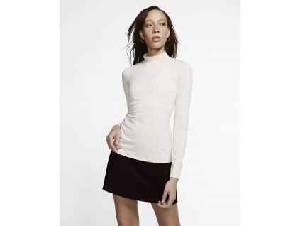 NIKE dámské tričko s dlouhým rukávem růžové přední strana