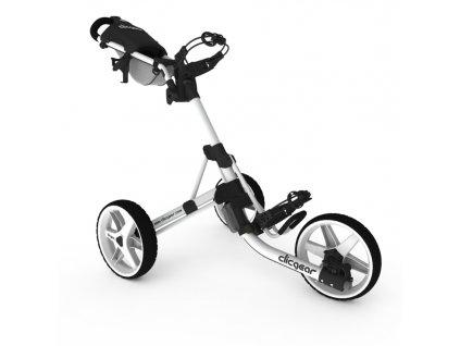 CLICGEAR 3.5+ golfový vozík bílý  + Ocelová vypichovátka 2 ks