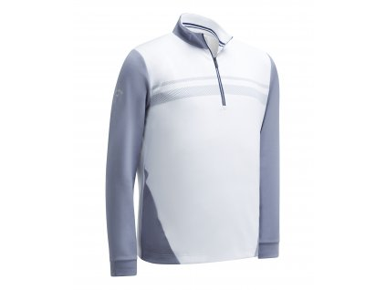 CALLAWAY Long Sleeve High Gauge Fleece pánská golfová mikina bílá zepředu