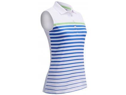 CALLAWAY dámské tričko Printed Stripe bílé zepředu