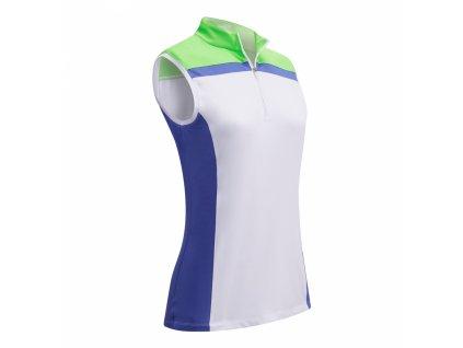 CALLAWAY dámské tričko 3 Colour Block bílo-zelené zepředu