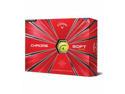 golfove micky callaway chrome soft yellow 12 ks