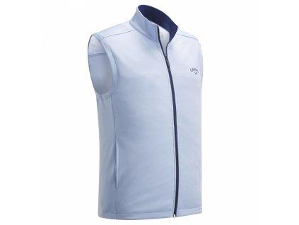 CALLAWAY High Gauge Full Zip Fleece pánská golfová vesta šedá zepředu