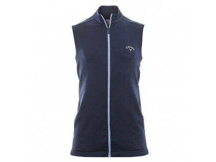CALLAWAY High Gauge Full Zip Fleece pánská golfová vesta modrá zepředu
