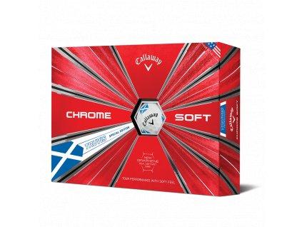 CALLAWAY Chrome Soft 18 Truvis golfové míčky bílo-modré (12 ks)