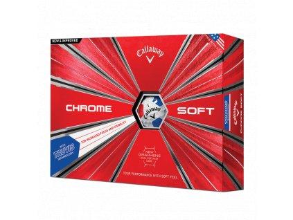 CALLAWAY Chrome Soft 18 Truvis golfové míčky bílo-modro-červené (12 ks)