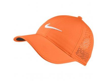 NIKE dámská kšiltovka Perf Cup oranžová zepředu