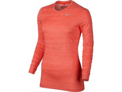 NIKE dámské spodní triko Base Layer červeno-oranžové (Velikost oblečení M)