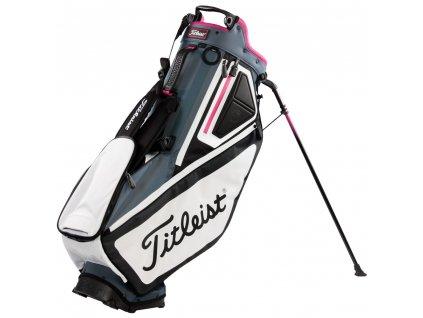 TITLEIST bag na záda Players 5 černo-šedo-růžový