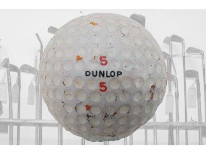 Historický golfový míček Dunlop 5