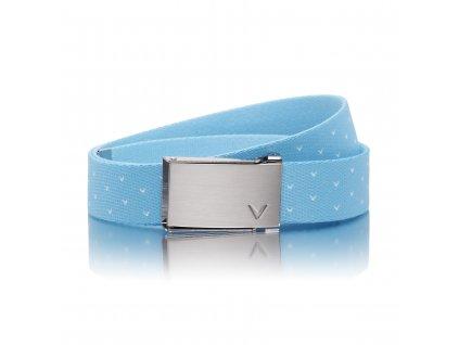 CALLAWAY dámský pásek Chev Reversible světle modrý