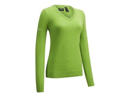 CALLAWAY dámský svetr V-Neck Merino zelený zepředu
