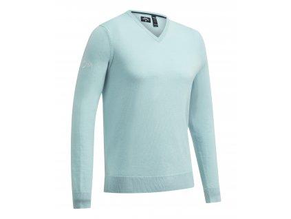 CALLAWAY V-Neck Merino pánský golfový svetr světle modrý