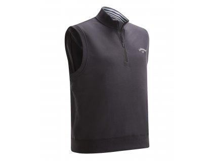 CALLAWAY French Terry 1/4 Zip pánská golfová vesta černá zepředu
