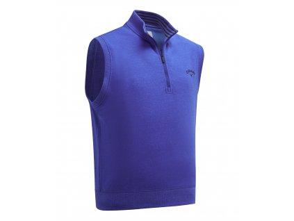CALLAWAY French Terry 1/4 Zip pánská golfová vesta modrá